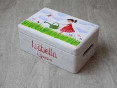 Kisten & Boxen - Spitzbub Erinnerungsbox Kiste - Blumenmädchen - ein Designerstück von Spitzbub bei DaWanda