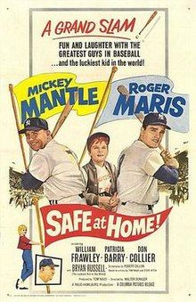 Safe At Home! Top From Left: Mickey Mantle Bryan Russell Roger Maris Bottom From Left: Patricia Barry William Frawley Movie Poster Masterprint Baseball Records, Baseball Movies, Baseball Players, Baseball Pics, Baseball Quotes, Cinema Posters, Movie Posters, Sports Advertising, Sport