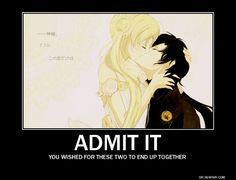 Tags: Anime, Bishoujo Senshi Sailor Moon, Tsukino Usagi, Kou Seiya, Demotivational Poster