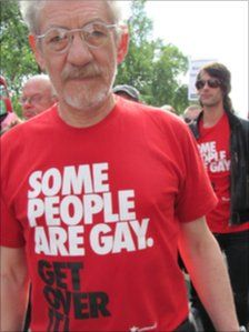 Sir Ian McKellen is gay and proud and adorable as hell. I wish I had him as a third grandfather.