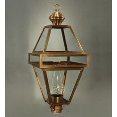 Northeast Lantern Boston Socket with Chimney 1 Light Lantern Head Finish: Antique Brass, Glass Type: Seedy Marine
