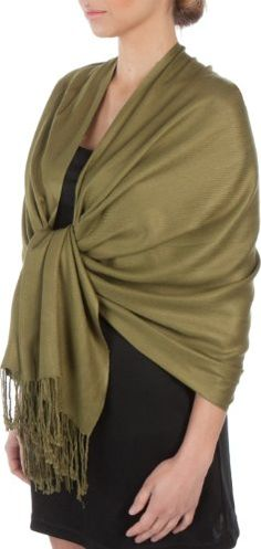 "Sakkas 78"" X 28"" Silky Soft Solid Pashmina Shawl / Wrap /$12.99"