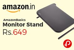Amazon #LightningDeal is offering 35% off on AmazonBasics Monitor Stand Just at Rs.649 Only. improving ergonomics, Holds up to 18 kg, Store game consoles, laptops or other items underneath, Measures approximately 11 x 14.6 x 4.25 inches, 1 year limited warranty.  http://www.paisebachaoindia.com/amazonbasics-monitor-stand-just-at-rs-649-only-amazon/