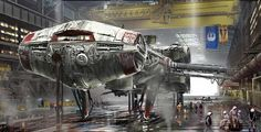 Tantive IV awaits departure to intercept stolen weapons plans from the Galactic…
