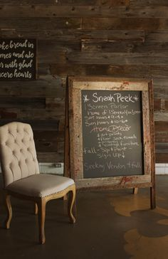 Hand Crafted A-Frame Chalkboard - Authentic barn wood - Double sided rustic sandwich board by IScreenYouScreen on Etsy https://www.etsy.com/listing/238601167/hand-crafted-a-frame-chalkboard