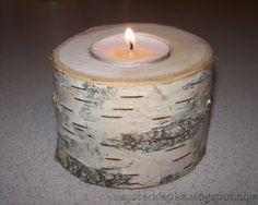 Birch candlestick