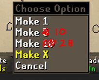 """[Suggestion] - Change the """"Make 10"""" Option to """"Make 28"""" Option in Skills (Fletching - Crafting). It should be a lot easier to change for the OSRS team"""