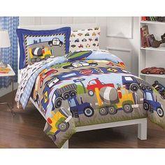 Trucks and Tractors Twin-size 5 Pc Bed in a Bag Sheet Set Boys Gift #TruckandTractors