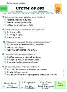 Rallye lecture albums CP/CE1- questionnaires niveau 1 - Le jardin d'Alysse
