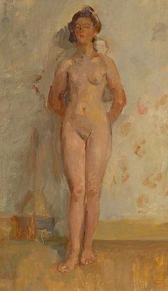 Isaac Israels (1865-1934) - Staand naakt
