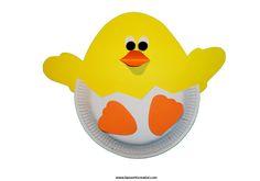 Lavoretti di Pasqua   Uovo con pulcino  in pasqua