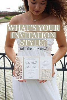 Find your perfect style of wedding invitation by taking this quiz!  DIY Wedding, Wedding Invitations, Unique, Elegant