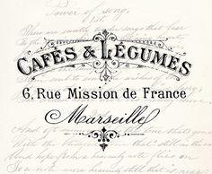 Digital Download Vintage Antique Typography Label by DIYVintageArt, $1.20
