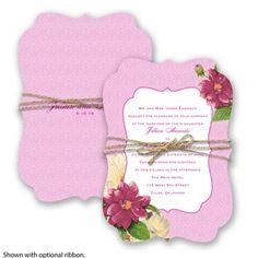 Floral Serenade Wedding Invitation in Begonia #springweddings #davidsbridal