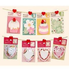 [ 92% OFF ] Kawaii Flowers Memo Pads Series Sticky Note  Notepad Simple Escolar Stationery Office Material School Supplies(Ss-8752)