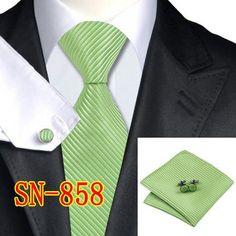 SN-342 Men's 100% Silk Neckties Tie handkerchief Cufflinks Sets for men Formal Wedding Party Groom Free Shipping
