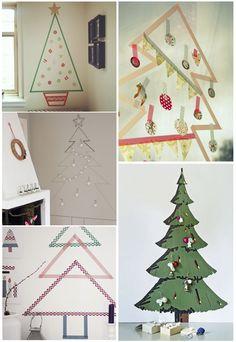 Arboles de Navidad de washi tape  arbres de nadal amb super washi tape
