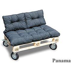 Palette Panama Coussin Coussin de dos Siège Coussin Canapé Fauteuil Palette Coussin 60x43cmx15cm anthracite