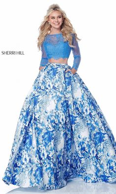 Sherri Hill 51961 Sherri Hill Pure Couture Prom, Dayton, OH Prom Dresses, Prom 2018 Prom Dresses Two Piece, Cute Prom Dresses, Prom Dresses Long With Sleeves, Long Prom Gowns, Formal Dresses, Dress Prom, Long Dresses, Sherri Hill Homecoming Dresses, Beautiful Dresses