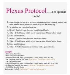 Get results! follow this protocol! If you wish to get the products at wholesale just sign on with me and I can help! shopmyplexus.com/joannecooper1 or email me at jcfaithcooper@yahoo.com <3