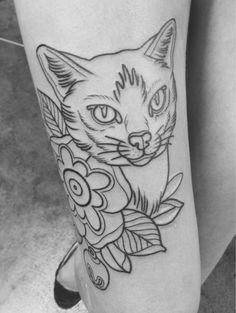 victorian cat tattoo | Cat tattoo Improve on this