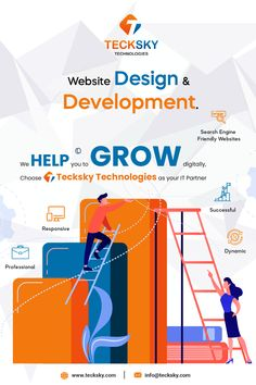 Looking for Web Design & Development company with good prior experience? We are at @tecksky Complete It Solution a professional Web Design & Development Company based in INDIA. Our unique web design & development services are meant to provide you the highly interactive websites to ensure improved user experience and easy navigation. Get in touch with us now & take your business to new levels of growth and success. For More Details:📞:- 9426418919 📩:- info@tecksky.com Web Development Company, Design Development, Interactive Websites, Professional Web Design, User Experience, Search Engine, Mobile App, Success, India