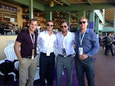 Los Angeles Kings Kyle Clifford, Trevor Lewis, Jarret Stoll and Matt Greene at the Breeder's Cup