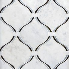 Lyra Carrara Nero Polished Waterjet Marble Mosaic - 12 x 13 - 100472240 Marble Mosaic, Stone Mosaic, Stone Tiles, Mosaic Glass, Mosaic Tiles, Carrara, Decorative Tile Backsplash, Kitchen Backsplash, Mosaics