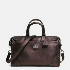 Happy birthday to me a few monthsnearly:)The Rhyder Satchel In Metallic Leather from Coach