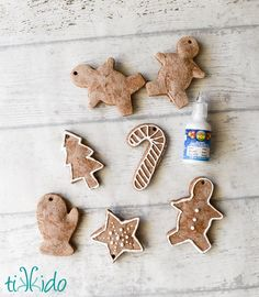 Gingerbread Scented Salt Dough Ornaments