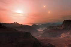 Three worlds, potentially hospitable for life, have been discovered orbiting a dim, nearby star some 39 light-years away.