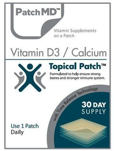 Vitamin D3/Calcium Patch (30-Day Supply) – BariatricPal Store