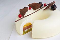 Tort herbaciano-waniliowy z galaretką marakuja-mango - Mistrzowie Wypieków… Mango, Nalu, Aesthetic Food, Panna Cotta, Cake Decorating, Cheesecake, Dessert Recipes, Pudding, Sweet