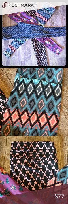 NEW Bundle Lularoe TC 12-18 plus LEGGINGS These tall and curvy leggings are buttery soft. You will love them and find it hard to go back to pants. The sizing is size 12 to 18. You will receive all 4 leggings in picture. Three of the leggings retail for $25 per pair. The pink and black Minnie Disney leggings retail for $30 & up.  They are all new. LuLaRoe Pants Leggings