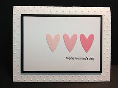 Stampin' Up! Valentine's Day Card.  Simple and quick.  Great for a Stamp A Stack