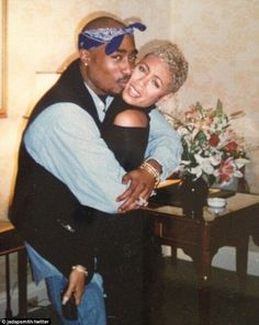 Closer than lovers: After high school the pair remained close with Tupac describing Jada as 'my heart'