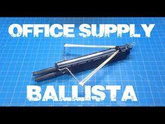 DIY Mini Crossbow Office Supply Ballista - YouTube