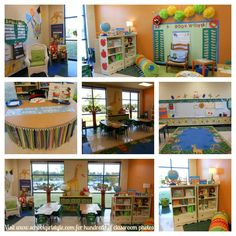 CUTE classroom decorating ideas...love the table skirt...  angie-schoolgirl-style-collage.jpg
