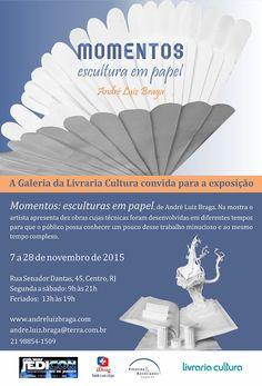 Agenda Cultural RJ: Esculturas em papel, você nunca viu um trabalho como este! O artista Andre L. Braga vai expor seu trabalho a partir do dia 7 de novembro na Galeria da Livraria Cultura, não perca!!!