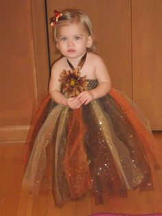 Fall Tutu Dress. Only 2 Available. $45.00, via Etsy.