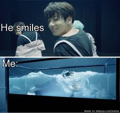 Jungkook smile...  He is that deadly.. And he's still just beginning to discover his powers.. We're all going to die.