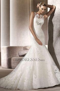 Trumpet/Mermaid Straps Lace Wedding Dress - IZIDRESSES.COM at IZIDRESSES.com