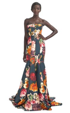 J.Mendel Resort Floral Gown