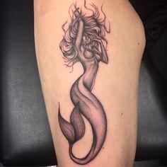 Mermaid #mermaid #mermaidtattoo #mikstattoo #cool #leg #girl #woman # ...