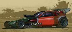 Concept Art for RatRodding a Honda Insight