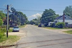 Looking east on Fourth / Polojko St. across the Espanola train tracks, to the end where my grandparents lived (photo: Dave Melnychuk)