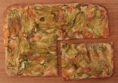 Pizza fiori di zucca e alici - Pizza zucchini flowers and anchovies