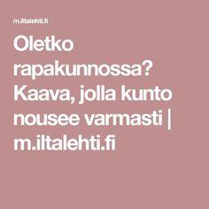 Oletko rapakunnossa? Kaava, jolla kunto nousee varmasti   m.iltalehti.fi