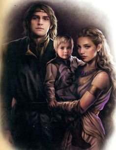 Young Viserys II and his wife with future King Aegon IV Targaryen -aka- known as Aegon the Unworthy