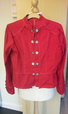 Gorgeous-Jacket-Size-10-Military-Style-Ladies-Womens-Red-Very-Stylish